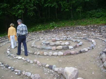 Akmens labirints enerģijas uzņemšanai