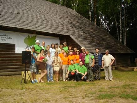 Daļa Latvijas delegācijas