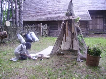 Pirts maģijas telts
